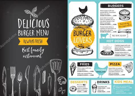 design menu burger burger menu design stock vector 169 marchi 101127620