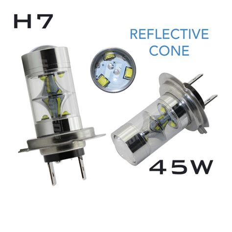 h7 reflective cree led 45w