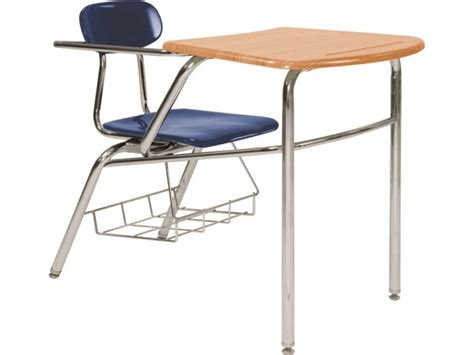 Combo Desk With Curved Woodstonetop Front Brace 18 Quot H Student Chair Desk Combo