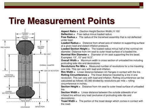 tire section height ppt tires wheels wheel bearings powerpoint