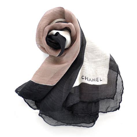 chanel silk chiffon cc scarf 27304