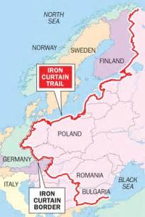 The Iron Curtain Iron Curtain Map