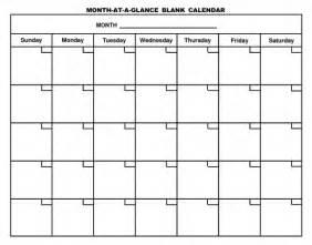 blank 1 month calendar printable calendar template 2016