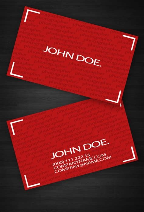 30 stunning red business cards design designcanyon