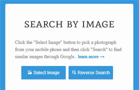 reverse image searching  mobile phones