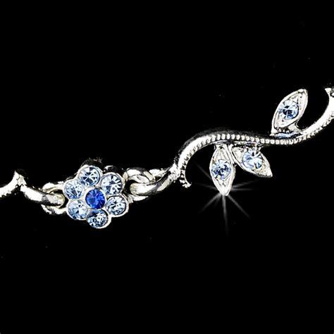 Floral Rhinestone Earrings floral rhinestone necklace earring set bridal