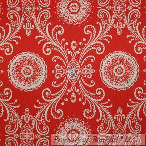 Waverly Home Decor Fabric boneful fabric fq woven decor red orange cream large