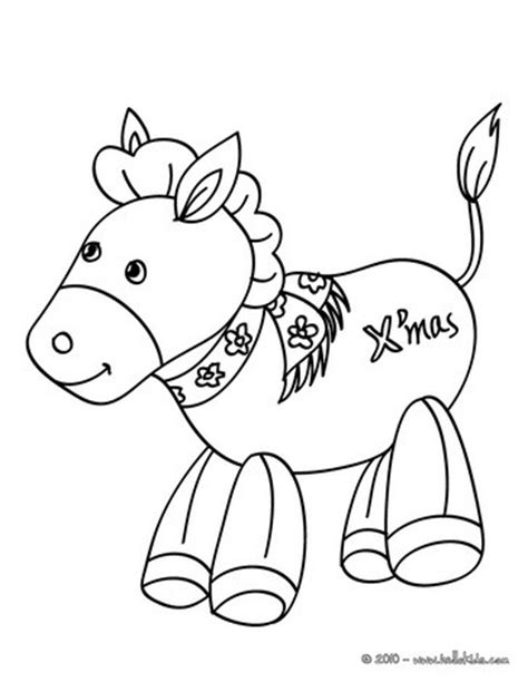 christmas donkey coloring page nativity donkey coloring pages hellokids com