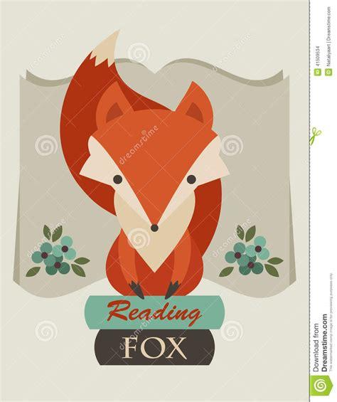 how to create a retro fox illustration in adobe illustrator reading fox stock vector image 41509534