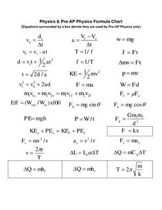 gallery for > basic physics equations pdf