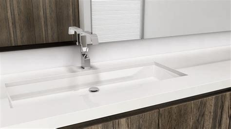 undermount trough sink vc836u 36 quot undermount bathroom trough sink the cube