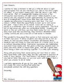 Parent Letter About Sight Words Dear Parents Get Ready For Words Differentiated Kindergarten