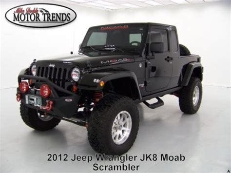 Moab Industries Jeep For Sale Purchase Used 2012 Jeep Wrangler Jk8 Navigation Custom