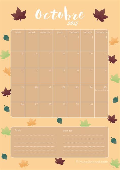 Calendrier D Octobre 2015 192 T 233 L 233 Charger Fond D 233 Cran Et Calendrier Octobre 2015