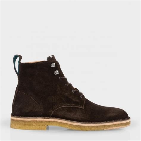 smith mens boots paul smith s brown suede echo boots in brown for