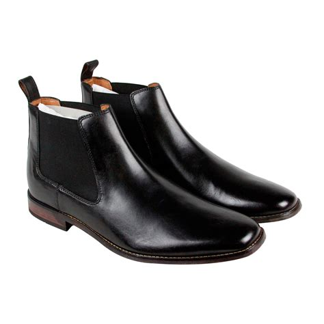 black boots mens shoes clarks narrate plain mens black leather casual dress slip