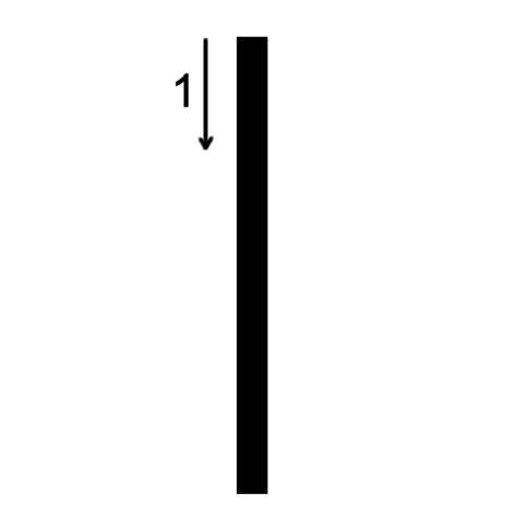 Lowercase l Printing Worksheet (trace 1, print 1)