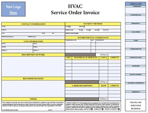 Pdf Hvac Invoice Template Free Download Hvac Invoice Templates In 2019 Invoice Template Hvac Template Pdf