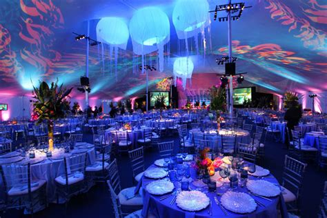 uc themes center guests dined under the quot enchanted kelp forest quot tent at the