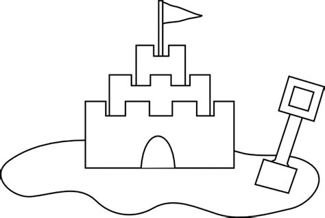 castle drawing template sand castle outline clip at clker vector clip