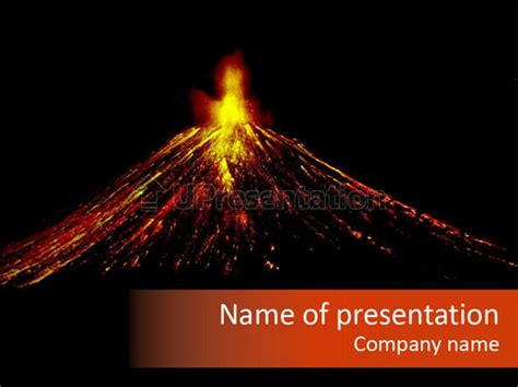 volcano powerpoint template lava fire volcano powerpoint
