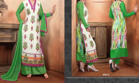 shirts and plazo pakistani suites stylish white and green long shirt kameez with plazo suit