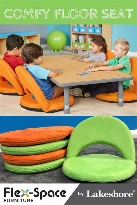 comfy floor seat features cushioned  support