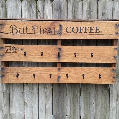 pallet coffee cup rack  repurposed life rescue