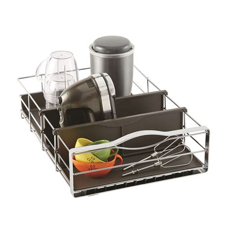cabinet organizers pull out simplehuman 14 quot pull out cabinet organizer the container