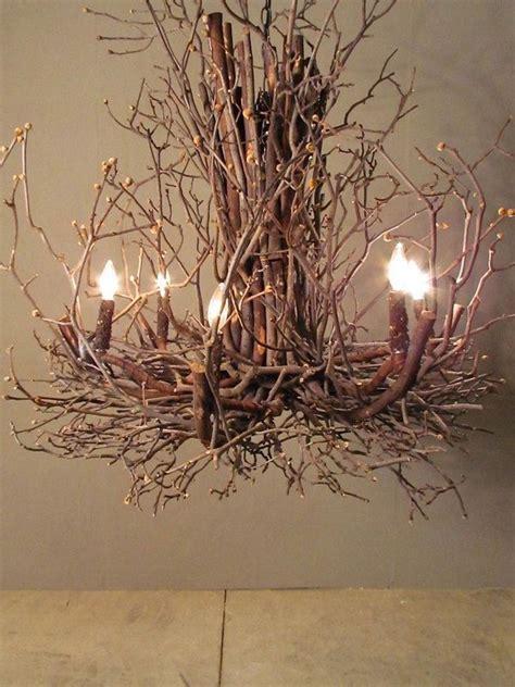 Twig Chandelier Diy Best 25 Branch Chandelier Ideas On Hanging