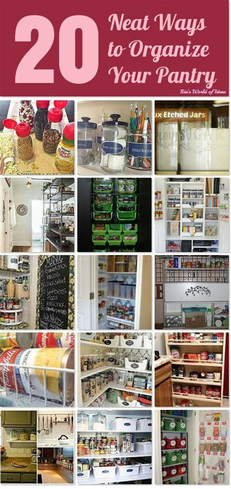 20 neat ways to organize your pantry i think i need all
