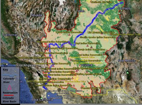 american tribes colorado map map tribal water uses in the colorado river basin