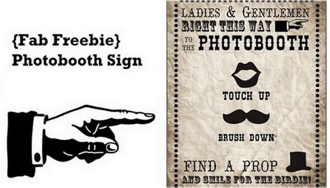 photo booth sign template free free photobooth sign printable vintage carnival style