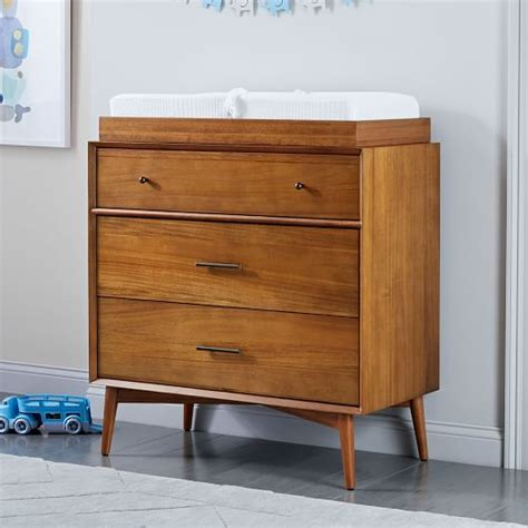 mid century changing table mid century 3 drawer changing table acorn elm