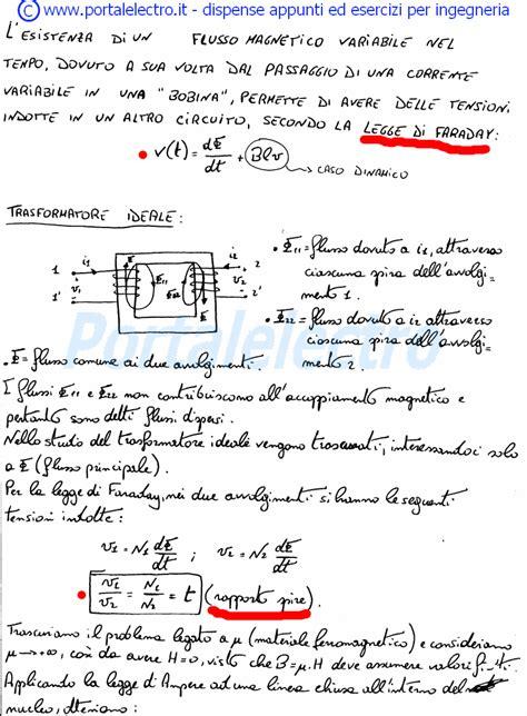 dispense di elettrotecnica formulario elettrotecnica trasformatore ideale portalelectro