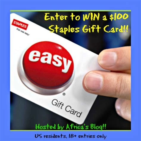 How Much Money Is On My Staples Gift Card - 100 staples gift card giveaway southern krazed