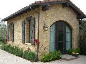 Garden Cottage Shed - tuscan limestone mediterranean garage and shed other metro by select stone inc