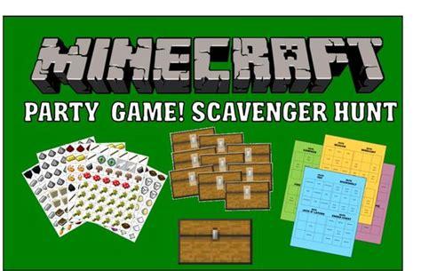 printable minecraft quiz scavenger hunts the challenge and hunt s on pinterest