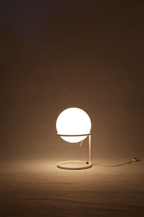 Large Mid Century Glass Ball Floor Lamp  Glashuette