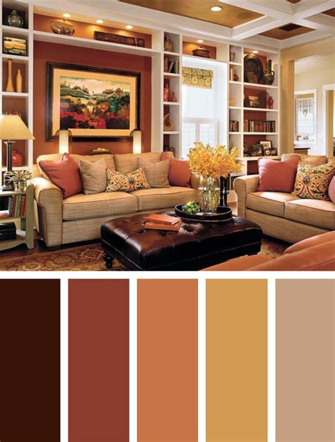 Living Room Color Palette Ideas 5 Harvest Spice And Everything Living Room Color Schemes With Orange