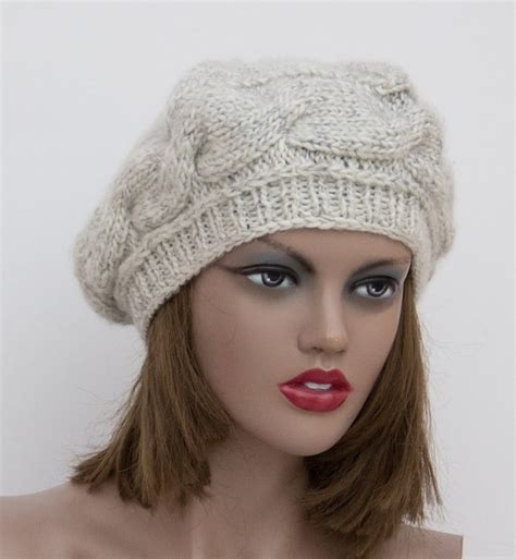 womens knit light gray grey knit hat womens knit hats knitted hat