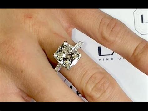 4 Engagement Ring by 4 Carat Cushion Cut Engagement Ring