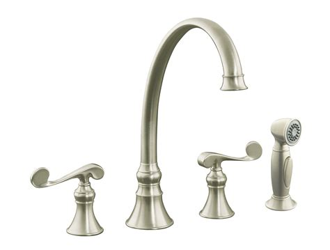 brushed nickel faucets kitchen how to clean a moen kitchen faucets brushed mickel decor