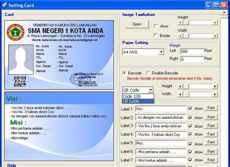 membuat barcode kartu nama download aplikasi cetak kartu siswa barcode software