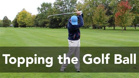 How To Stop Topping The Golf Ball Golf Instruction My