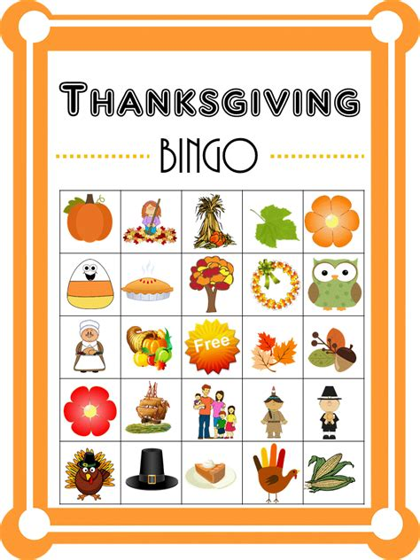 free printable thanksgiving picture cards printable thanksgiving picture bingo cards best business
