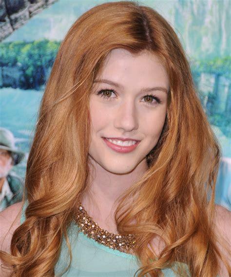 Katherine McNamara Long Wavy Casual Hairstyle   Light Red