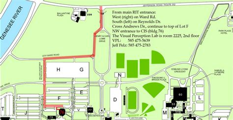 rit map directions to the visual perception laboratory at rit