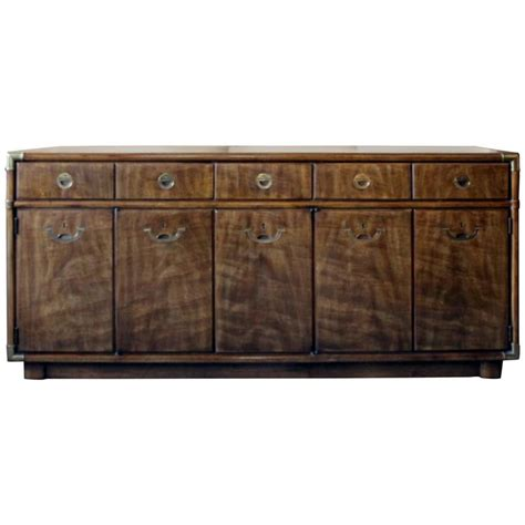 Drexel Heritage Caign Buffet Or Sideboard On Rollers Drexel Heritage Buffet