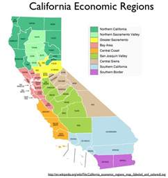 map of california regions regionalizing california geocurrents